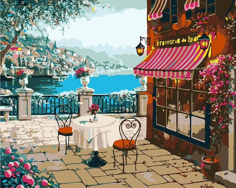 Картина по номерам «Воспоминание о Белладжио» Роберта ПежманаPaintboy (Premium)<br><br><br>Артикул: GX7247<br>Основа: Холст<br>Сложность: сложные<br>Размер: 40x50 см<br>Количество цветов: 25<br>Техника рисования: Без смешивания красок