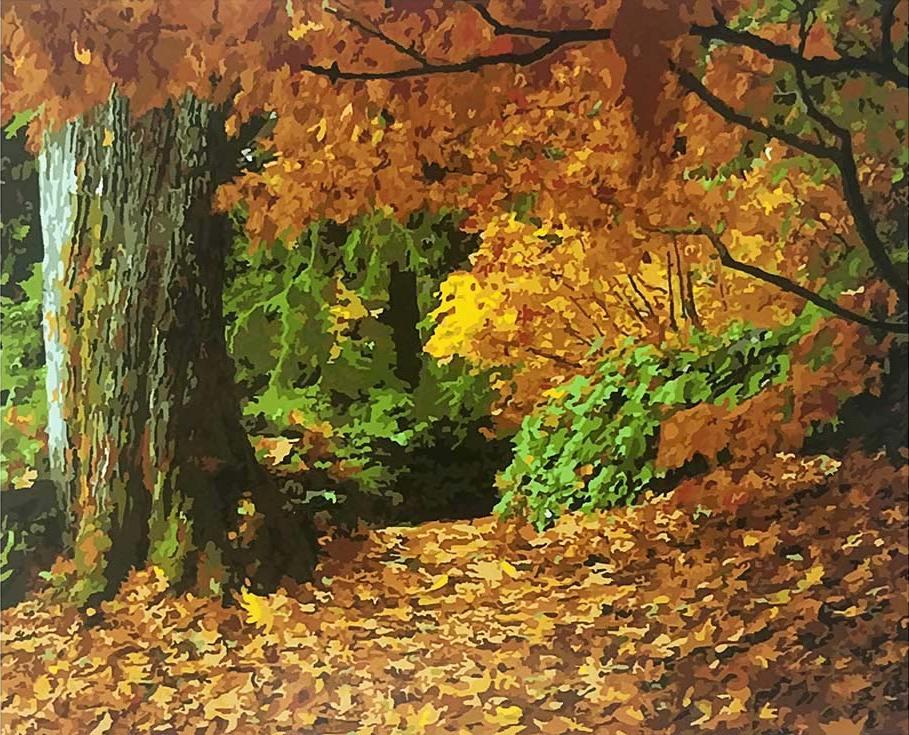 Картина по номерам «Осенний лес»Раскраски по номерам Paintboy (Original)<br><br><br>Артикул: GX8778_R<br>Основа: Холст<br>Сложность: средние<br>Размер: 40x50 см<br>Количество цветов: 27<br>Техника рисования: Без смешивания красок