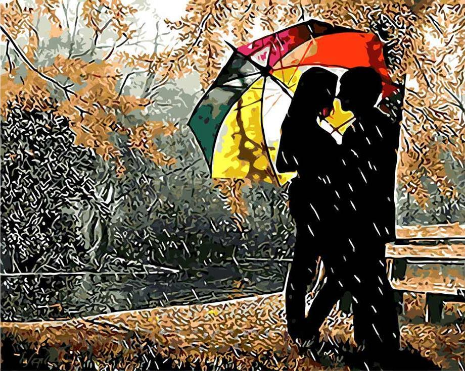 Картина по номерам «Под разноцветным зонтом»Цветной (Standart)<br><br><br>Артикул: GX8840_Z<br>Основа: Холст<br>Сложность: сложные<br>Размер: 40x50 см<br>Количество цветов: 25<br>Техника рисования: Без смешивания красок