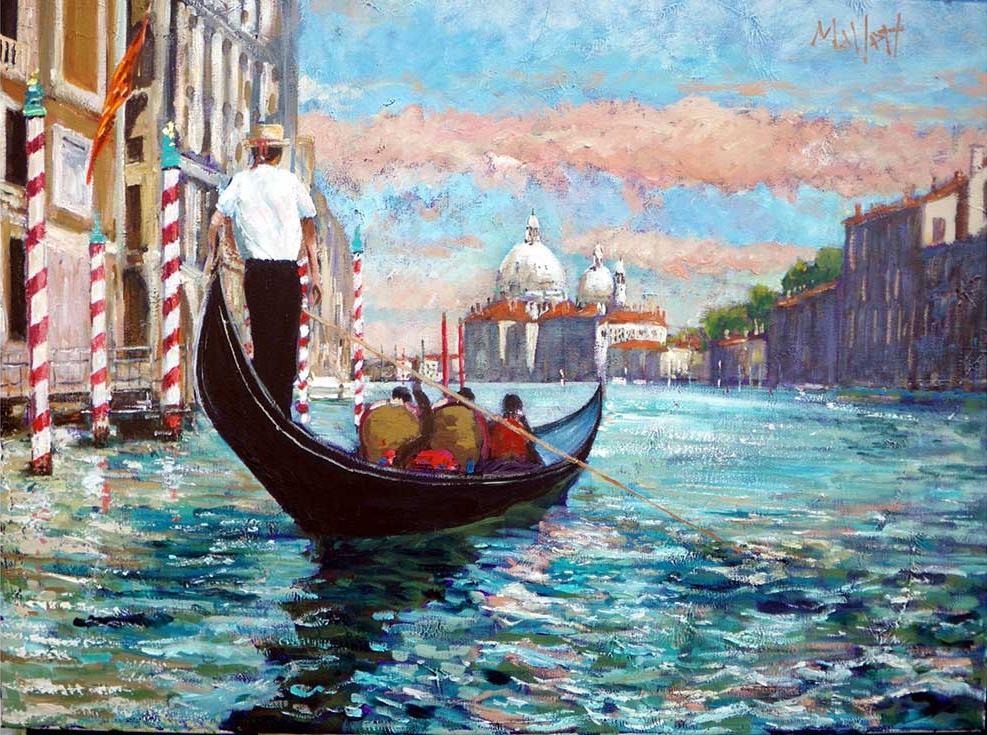 «Венеция, Гранд-Канал» Тимми МаллеттаPaintboy (Premium)<br><br><br>Артикул: gx9107<br>Основа: Холст<br>Сложность: средние<br>Размер: 40x50 см<br>Количество цветов: 27<br>Техника рисования: Без смешивания красок