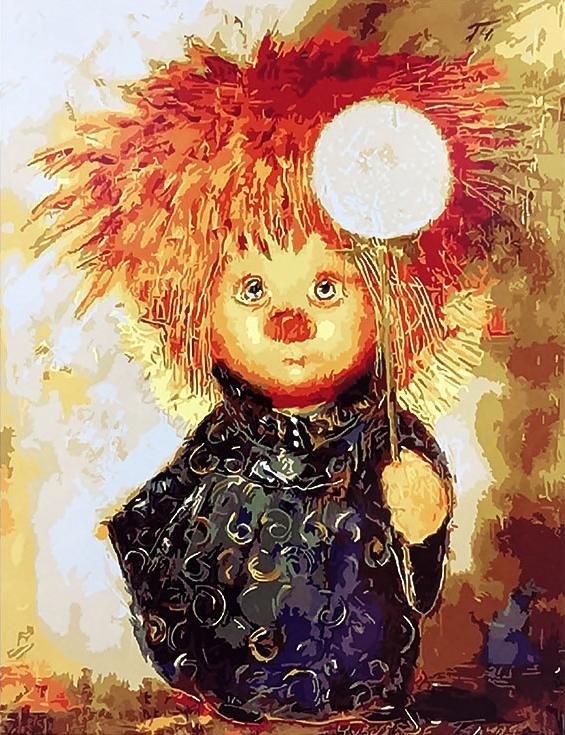 Картина по номерам «Рыжий ангелочек» Галины ЧувиляевойPaintboy (Premium)<br><br><br>Артикул: GX9356<br>Основа: Холст<br>Сложность: средние<br>Размер: 40x50 см<br>Количество цветов: 24<br>Техника рисования: Без смешивания красок