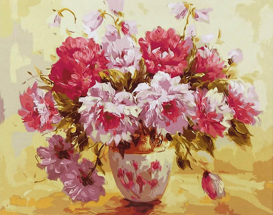 Картина по номерам «Великолепные пионы» Антонио ДжанильяттиРаскраски по номерам<br><br>
