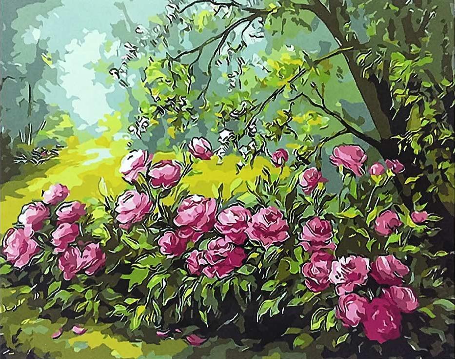 Картина по номерам «Лесные розы»Paintboy (Premium)<br><br><br>Артикул: GX9495<br>Основа: Холст<br>Сложность: средние<br>Размер: 40x50 см<br>Количество цветов: 24<br>Техника рисования: Без смешивания красок