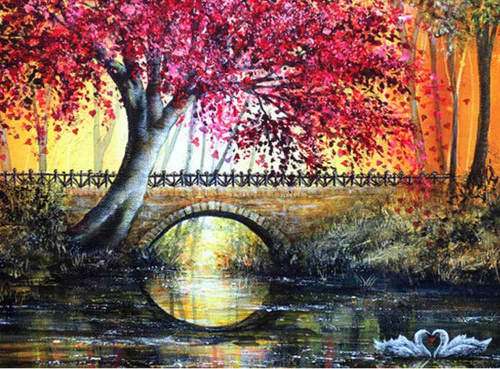 Картина по номерам «Лиловое дерево»Цветной (Standart)<br><br><br>Артикул: GX9567_Z<br>Основа: Холст<br>Сложность: сложные<br>Размер: 40x50 см<br>Количество цветов: 28<br>Техника рисования: Без смешивания красок