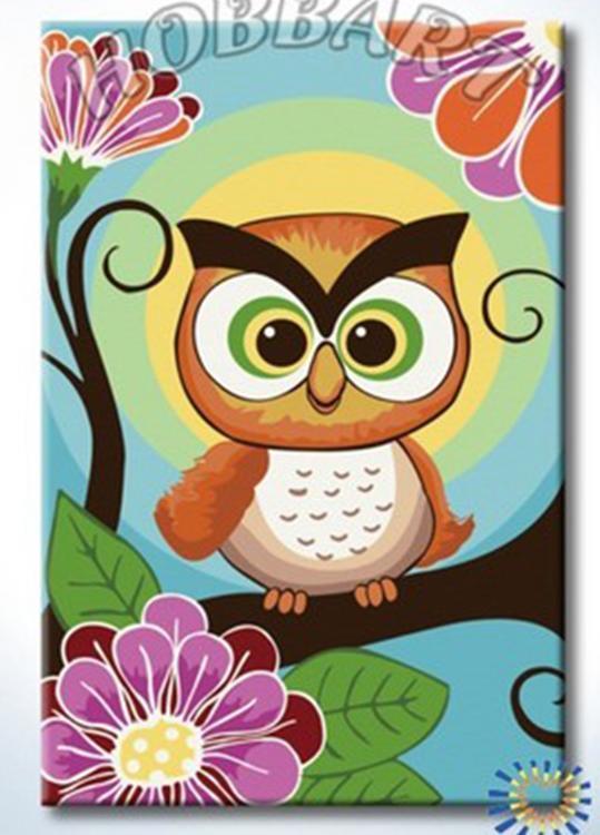 Картина по номерам «Совушка-сова»Раскраски по номерам<br><br>