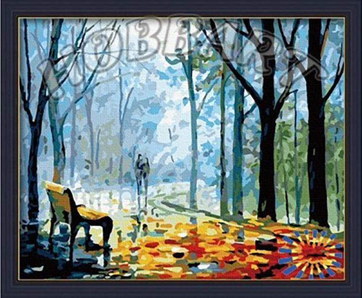 Картина по номерам «Туманная аллея» Леонида АфремоваHobbart<br>Леонид Афремов изменил к осени отношение многих людей, и раскраски по номерам на холсте сыграли в этом немалую роль. «Туманная аллея» - из той самой серии картин, которые сделали осень символом романтики и влюбленности. Холодное дыхание осени и капельки т...<br><br>Артикул: HB4050097<br>Основа: Холст<br>Сложность: средние<br>Размер: 40x50 см<br>Количество цветов: 25<br>Техника рисования: Без смешивания красок