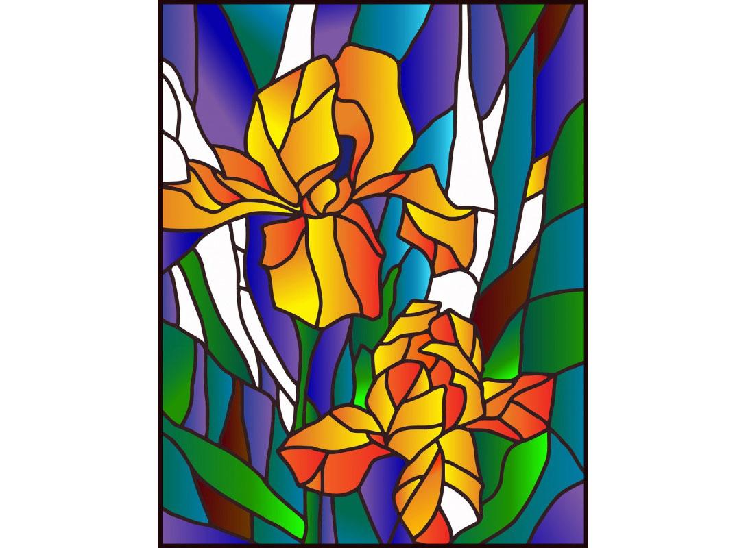 Витраж-раскраска «Ирисы»Color KIT<br>Витраж-раскраска – новый вид раскрасок для взрослых. В комплектации набора предусмотрено все, что может понадобиться при создании уникального произведения искусства.<br>Основа этой раскраски – стекло, обрамленное в багетную раму. Расписывать витраж достаточ...<br><br>Артикул: HG007<br>Основа: стекло в багетной раме<br>Размер: 43x53 см<br>Количество цветов: 12