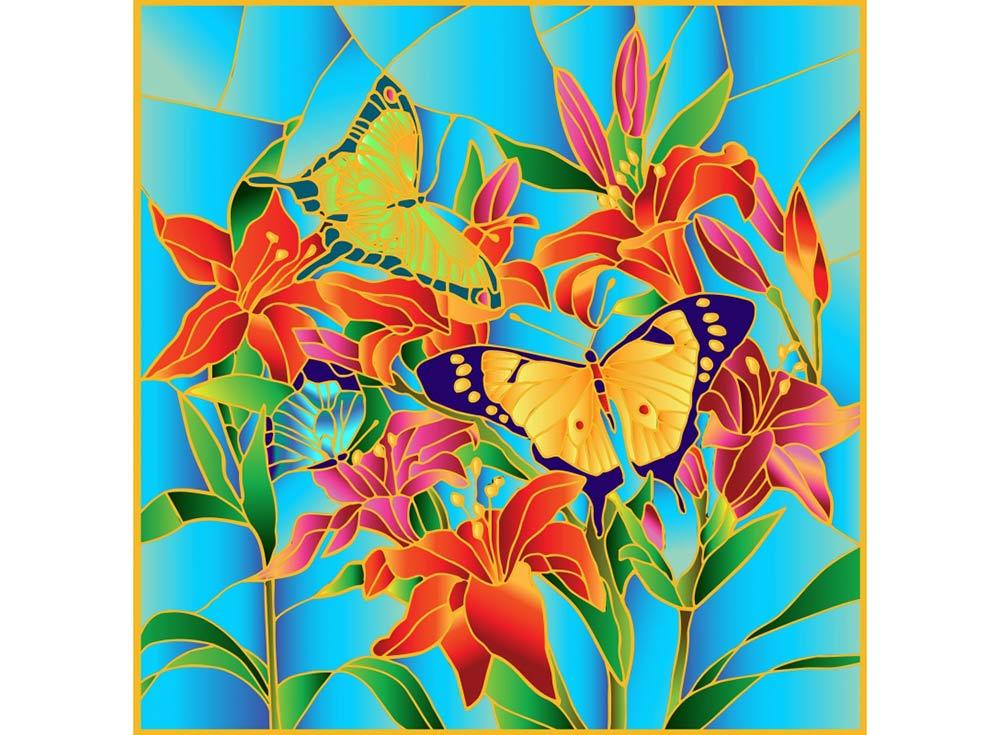 Витраж-раскраска «Бабочки»Color KIT<br>Витраж-раскраска – новый вид раскрасок для взрослых. В комплектации набора предусмотрено все, что может понадобиться при создании уникального произведения искусства.<br> Основа этой раскраски – стекло, обрамленное в багетную раму. Расписывать витраж достато...<br><br>Артикул: HS002<br>Основа: стекло в багетной раме<br>Размер: 43x43 см<br>Количество цветов: 6