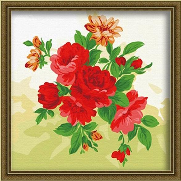Картина по номерам «Яркие пионы»Menglei (Premium)<br><br><br>Артикул: МF010<br>Основа: Холст<br>Сложность: средние<br>Размер: 40x40 см<br>Количество цветов: 15<br>Техника рисования: Без смешивания красок