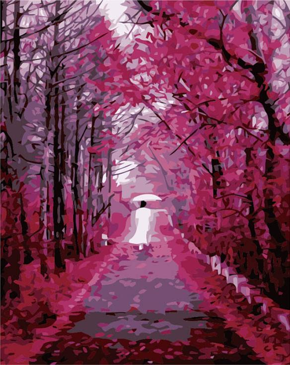 «Девушка в розовом саду»Цветной (Premium)<br><br><br>Артикул: MG610_Z<br>Основа: Холст<br>Сложность: сложные<br>Размер: 40x50<br>Количество цветов: 25<br>Техника рисования: Без смешивания красок