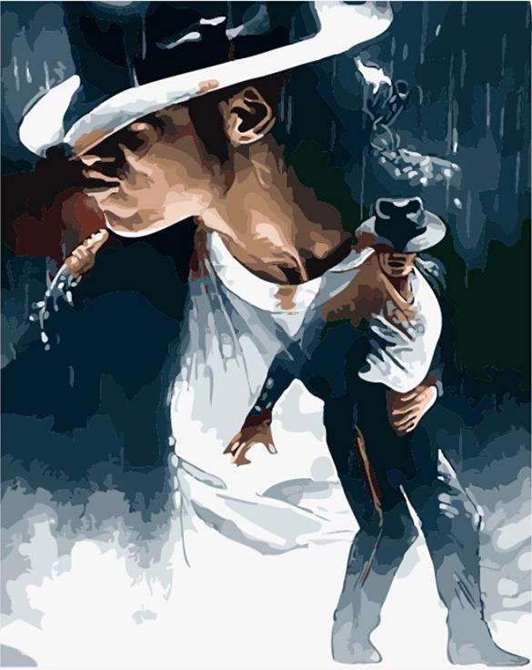 «Майкл Джексон»Цветной (Premium)<br><br><br>Артикул: MG657_Z<br>Основа: Холст<br>Сложность: сложные<br>Размер: 40x50 см<br>Количество цветов: 25<br>Техника рисования: Без смешивания красок