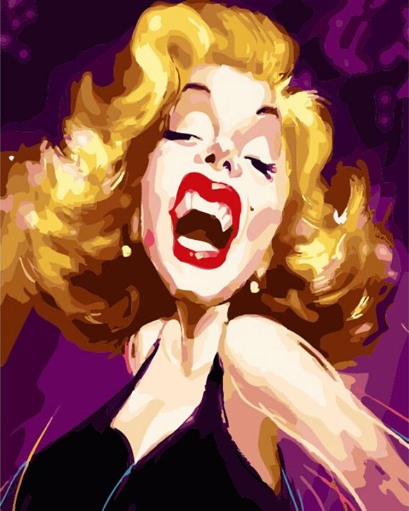 «Шарж Мэрилин Монро»Цветной (Premium)<br><br><br>Артикул: MG662_Z<br>Основа: Холст<br>Сложность: сложные<br>Размер: 40x50 см<br>Количество цветов: 25<br>Техника рисования: Без смешивания красок