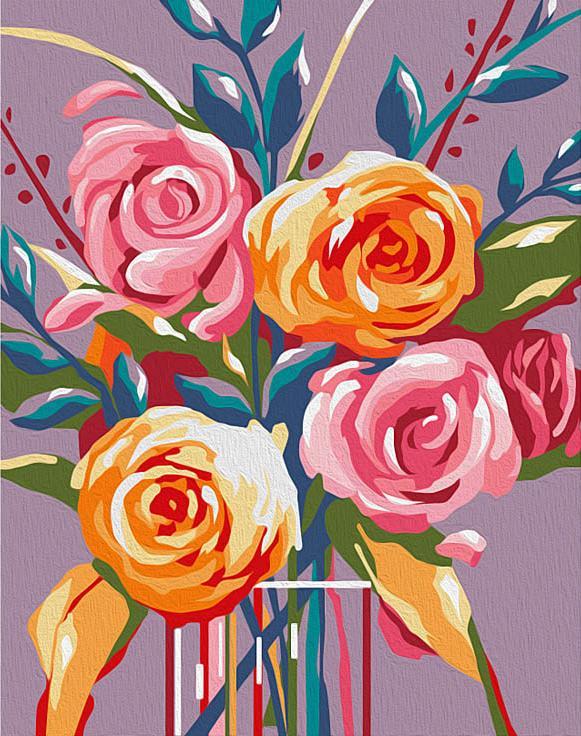 """«Нежные розы» (мини-раскраска)Мини-раскраска<br>Картина по номерам раскрашивается с применением техники смешивания красок.<br> <br> Картины по номерам """"Артвентура"""" в компактном мини-размере. Российский производитель картин премиум-класса креативно реализовал идею и пожелания многих поклонников раскрасок по...<br><br>Артикул: MINI16130028<br>Основа: Картон<br>Сложность: средние<br>Размер: 16,5x13 см<br>Количество цветов: 16<br>Техника рисования: Со смешиванием красок"""