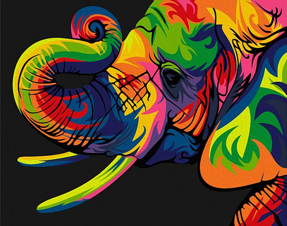 """Картина по номерам «Радужный слон» (мини-раскраска)Мини-раскраска<br>Картина по номерам раскрашивается с применением техники смешивания красок.<br> <br> Картины по номерам """"Артвентура"""" в компактном мини-размере. Российский производитель картин премиум-класса креативно реализовал идею и пожелания многих поклонников раскрасок по...<br><br>Артикул: MINI16130032<br>Основа: Картон<br>Сложность: сложные<br>Размер: 16,5x13 см<br>Количество цветов: 12<br>Техника рисования: Со смешиванием красок"""