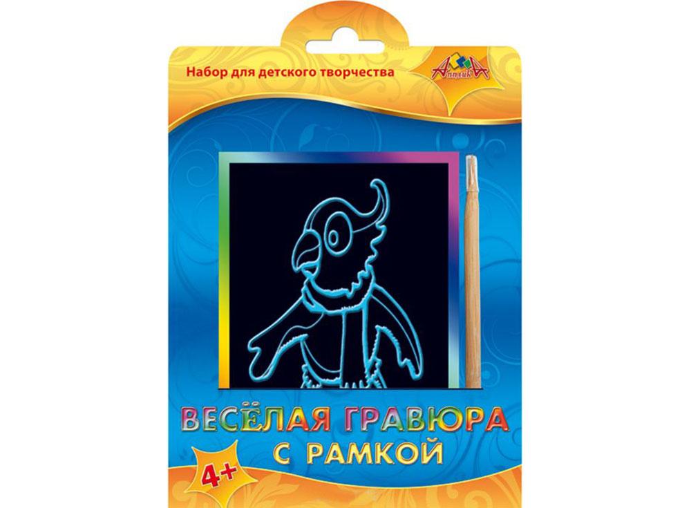 Гравюра «Попугай»Гравюры<br><br><br>Артикул: С2427-02<br>Размер: 10,5x14,8<br>Цвет: Разноцветные