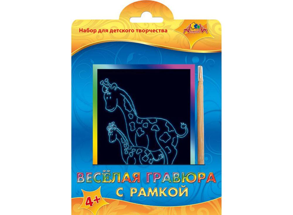 Гравра «Два жирафа»Гравры<br><br><br>Артикул: С2427-04<br>Размер: 10,5x14,8 см<br>Цвет: Разноцветные