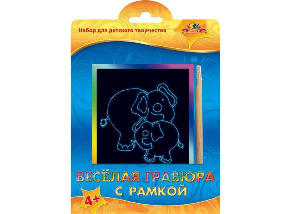 Гравюра «Слон и слоненок»Гравюры<br><br><br>Артикул: С2427-05<br>Размер: 10,5x14,8 см<br>Цвет: Разноцветные