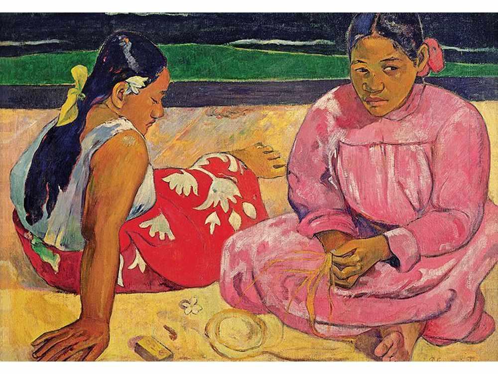 Пазлы «Арт пазл П. Гоген «Таитянские женщины на пляже»Trefl<br>Пазл - игра-головоломка, мозаика, состоящая из множества фрагментов, различающихся по форме.<br> По мнению психологов, игра в пазлы способствует развитию логического мышления, внимания, воображения и памяти. Пазлы хороши для всех возрастов - и ребенка-дошко...<br><br>Артикул: 10362<br>Размер: 68,3x48 см