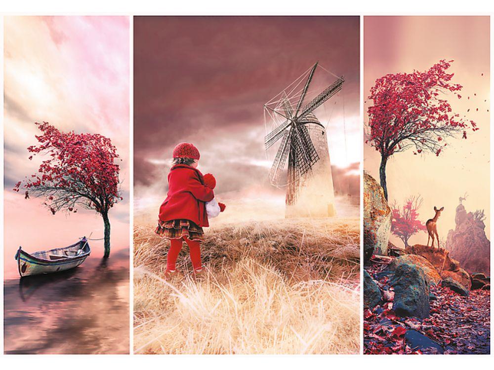 Пазлы «Сказочная земля»Trefl<br>Пазл - игра-головоломка, мозаика, состоящая из множества фрагментов, различающихся по форме.<br> По мнению психологов, игра в пазлы способствует развитию логического мышления, внимания, воображения и памяти. Пазлы хороши для всех возрастов - и ребенка-дошко...<br><br>Артикул: 10408<br>Размер: 68,3x48 см