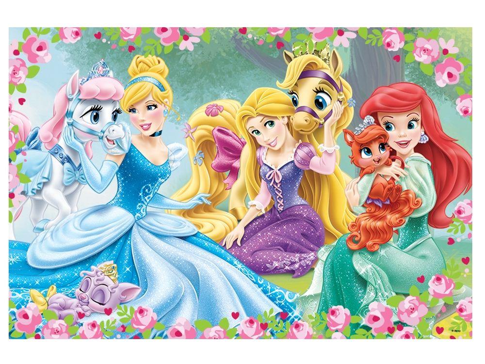 Пазлы «Прекрасные принцессы»Trefl<br>Пазл - игра-головоломка, мозаика, состоящая из множества фрагментов, различающихся по форме.<br> По мнению психологов, игра в пазлы способствует развитию логического мышления, внимания, воображения и памяти. Пазлы хороши для всех возрастов - и ребенка-дошко...<br><br>Артикул: 14223<br>Размер: 60x40 см