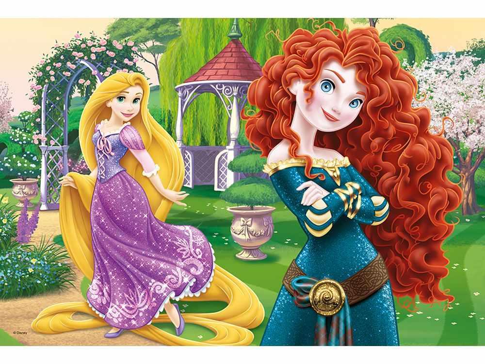 Пазлы «Веселые принцессы»Trefl<br>Пазл - игра-головоломка, мозаика, состоящая из множества фрагментов, различающихся по форме.<br> По мнению психологов, игра в пазлы способствует развитию логического мышления, внимания, воображения и памяти. Пазлы хороши для всех возрастов - и ребенка-дошко...<br><br>Артикул: 16199<br>Размер: 40,8x27,6 см