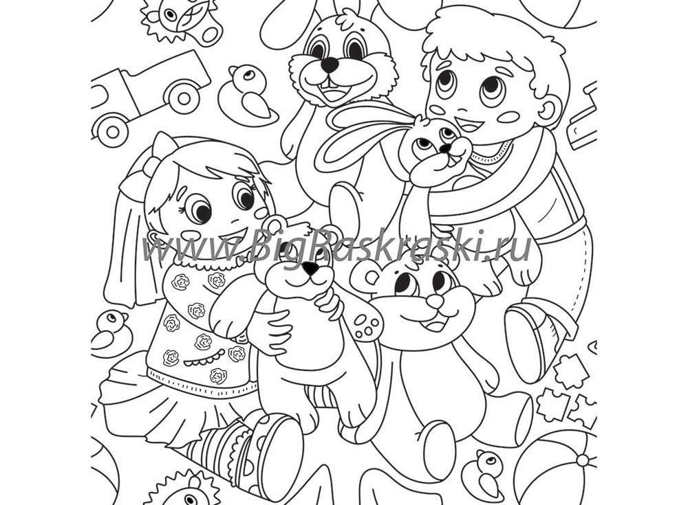 Раскраска в рулоне «Мальчик и Девочка»Детские обои для раскрашивания<br>Размер рулона: 61х305 см<br> Подбор рисунка (раппорт): 61см<br> Материал: плотная матовая бумага с покрытием<br> ВНИМАНИЕ! Не рекомендуется приклеивать обычным обойным клеем. В наборе предусмотрены специальные клеевые точки для крепления к любой поверхности!<br> ...<br><br>Артикул: 300207<br>Размер: 61x305 см<br>Материал: Плотная матовая бумага с покрытием