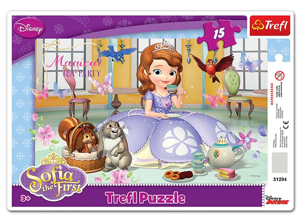 Пазлы «Время чаепития»Trefl<br>Пазл - игра-головоломка, мозаика, состоящая из множества фрагментов, различающихся по форме.<br> По мнению психологов, игра в пазлы способствует развитию логического мышления, внимания, воображения и памяти. Пазлы хороши для всех возрастов - и ребенка-дошко...<br><br>Артикул: 31204<br>Размер: 33,2x22,8 см