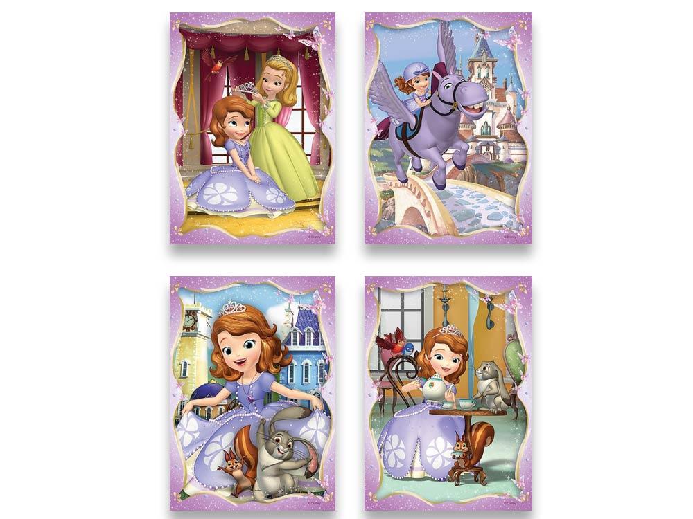 Пазлы «Набор 4-в-1 Счастливый день Софии»Trefl<br>Пазл - игра-головоломка, мозаика, состоящая из множества фрагментов, различающихся по форме.<br> По мнению психологов, игра в пазлы способствует развитию логического мышления, внимания, воображения и памяти. Пазлы хороши для всех возрастов - и ребенка-дошко...<br><br>Артикул: 34247<br>Размер: 20,5x28,5 см