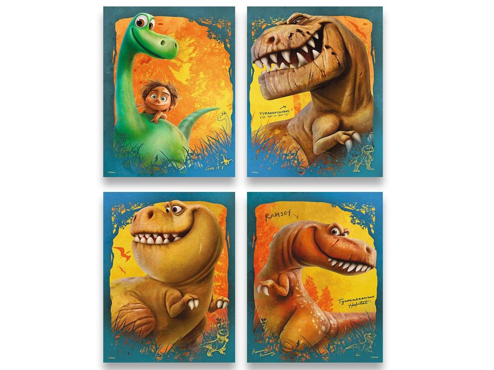 Пазлы «Набор 4-в-1 Хороший Динозавр»Trefl<br>Пазл - игра-головоломка, мозаика, состоящая из множества фрагментов, различающихся по форме.<br> По мнению психологов, игра в пазлы способствует развитию логического мышления, внимания, воображения и памяти. Пазлы хороши для всех возрастов - и ребенка-дошко...<br><br>Артикул: 34250<br>Размер: 20,5x28,5 см