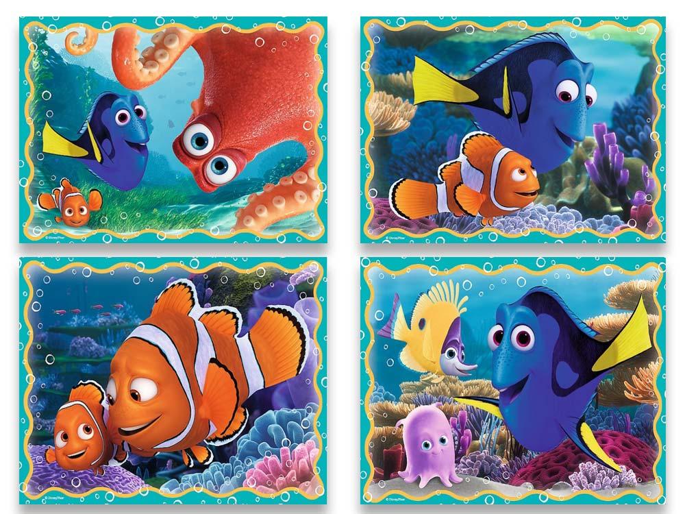 Пазлы «Набор 4-в-1 Подводные забавы»Trefl<br>Пазл - игра-головоломка, мозаика, состоящая из множества фрагментов, различающихся по форме.<br> По мнению психологов, игра в пазлы способствует развитию логического мышления, внимания, воображения и памяти. Пазлы хороши для всех возрастов - и ребенка-дошко...<br><br>Артикул: 34259<br>Размер: 20,5x28,5 см