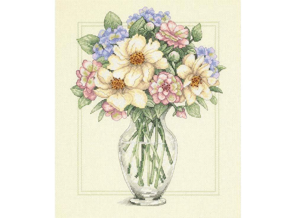 Купить Вышивка крестом, Набор для вышивания «Цветы в высокой вазе» Тима Коффей, Dimensions, США