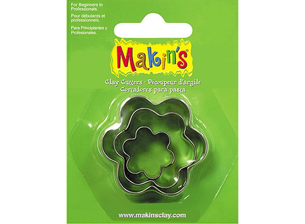 Набор каттеров Makin's «Цветок»Инструменты для лепки<br><br><br>Артикул: 36008<br>Размер: 20 мм, 30 мм, 40 мм