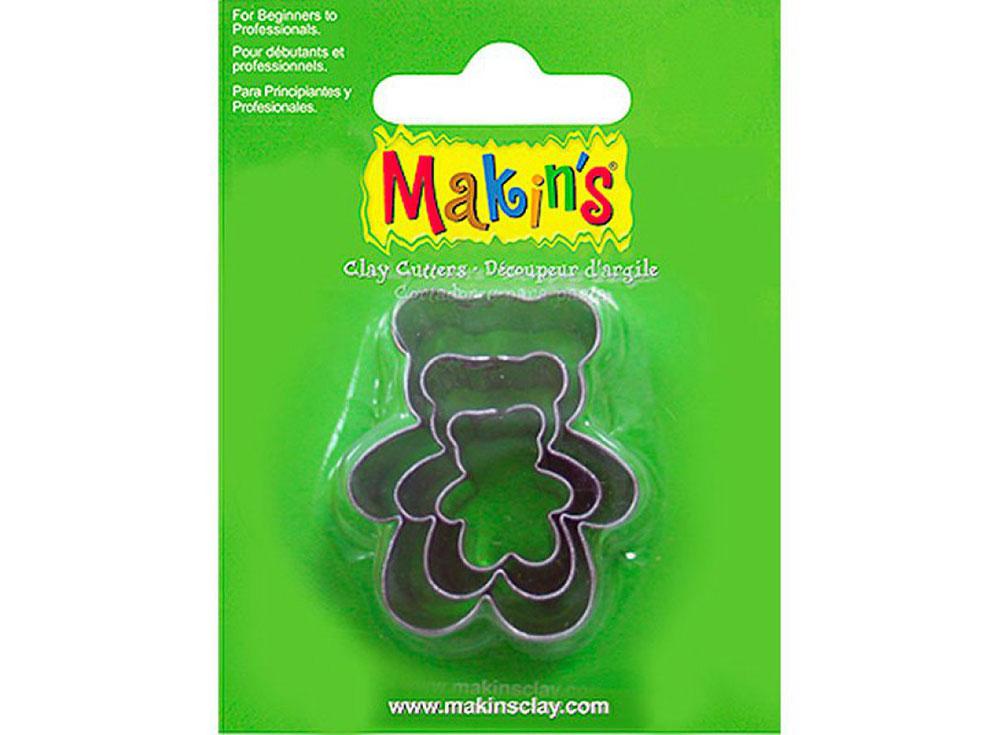 Набор каттеров Makin's «Мишка Тедди»Инструменты для лепки<br><br><br>Артикул: 36011<br>Размер: 20 мм, 30 мм, 40 мм