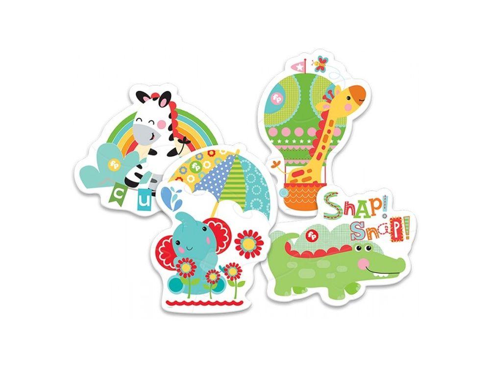 Пазлы «Дикие животные»Trefl<br>Пазл - игра-головоломка, мозаика, состоящая из множества фрагментов, различающихся по форме.<br> По мнению психологов, игра в пазлы способствует развитию логического мышления, внимания, воображения и памяти. Пазлы хороши для всех возрастов - и ребенка-дошко...<br><br>Артикул: 36058