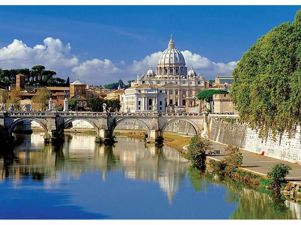 Пазлы «Ватикан, Рим, Италия»Trefl<br>Пазл - игра-головоломка, мозаика, состоящая из множества фрагментов, различающихся по форме.<br> По мнению психологов, игра в пазлы способствует развитию логического мышления, внимания, воображения и памяти. Пазлы хороши для всех возрастов - и ребенка-дошко...<br><br>Артикул: 37087<br>Размер: 48x34 см