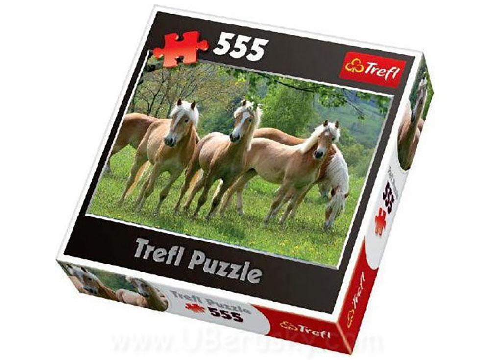 Пазлы «Кони на пастбище»Trefl<br>Пазл - игра-головоломка, мозаика, состоящая из множества фрагментов, различающихся по форме.<br> По мнению психологов, игра в пазлы способствует развитию логического мышления, внимания, воображения и памяти. Пазлы хороши для всех возрастов - и ребенка-дошко...<br><br>Артикул: 37182<br>Размер: 48x34 см