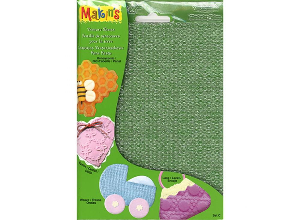 Набор текстурных листов Makins, комплект CИнструменты для лепки<br><br><br>Артикул: 38003<br>Размер: 12x16 см