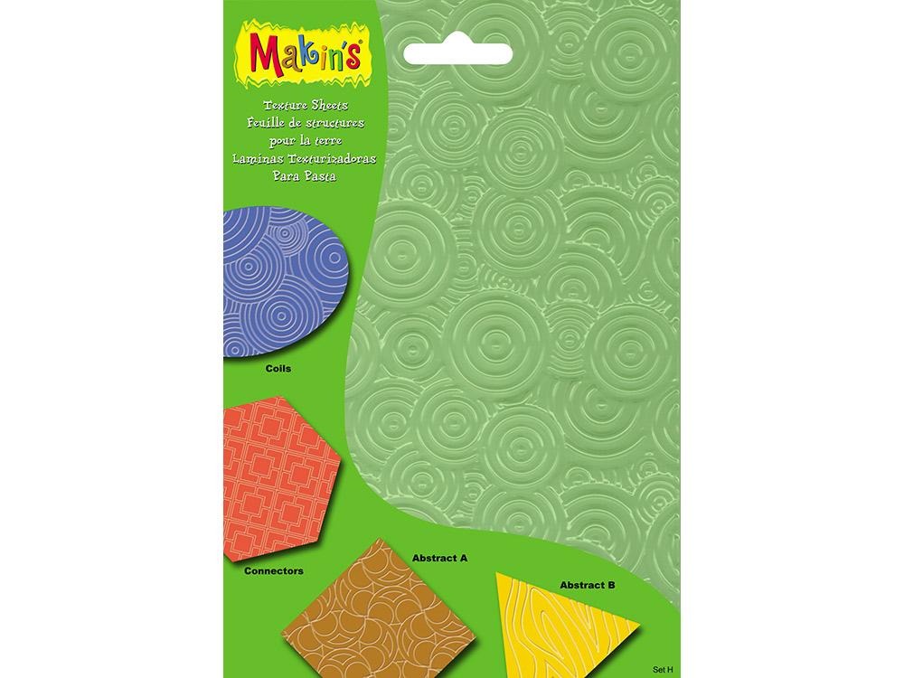 Набор текстурных листов Makins, комплект HИнструменты для лепки<br><br><br>Артикул: 38008<br>Размер: 12x16 см