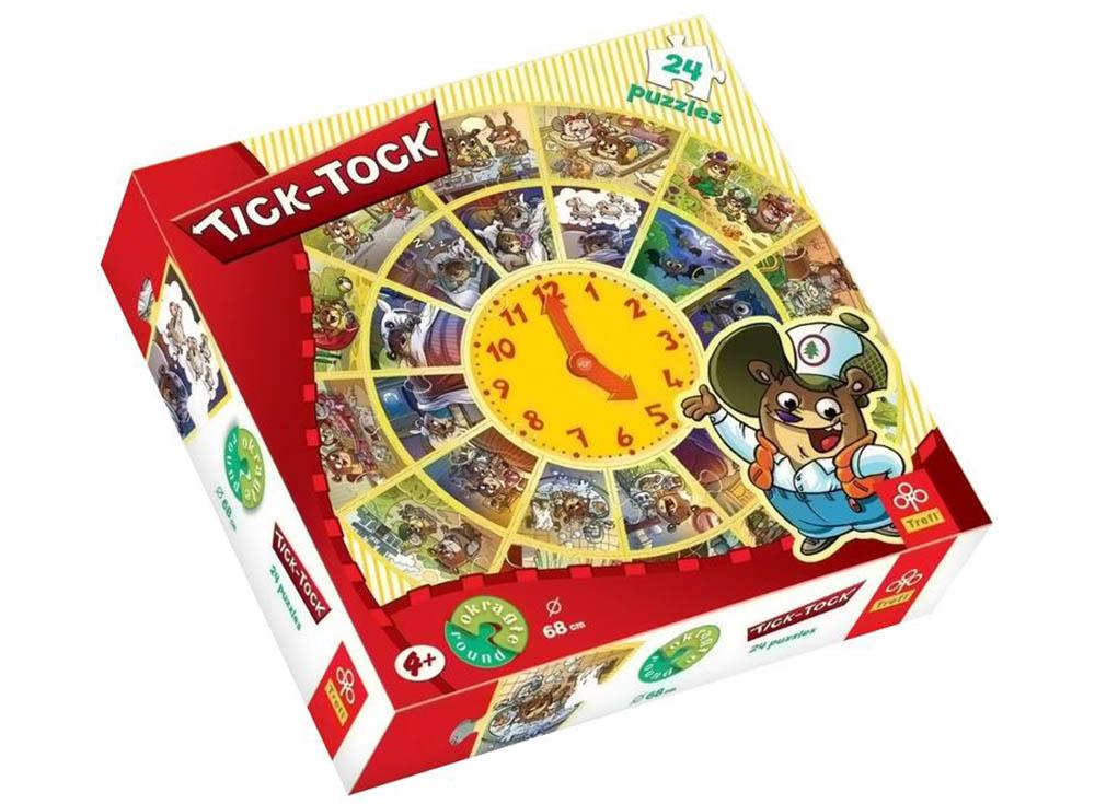 Пазлы «Тик-так»Trefl<br>Пазл - игра-головоломка, мозаика, состоящая из множества фрагментов, различающихся по форме.<br> По мнению психологов, игра в пазлы способствует развитию логического мышления, внимания, воображения и памяти. Пазлы хороши для всех возрастов - и ребенка-дошко...<br><br>Артикул: 39040<br>Размер: 68 см