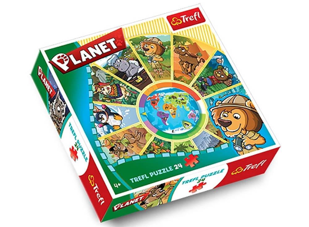 Пазлы «Планета»Trefl<br>Пазл - игра-головоломка, мозаика, состоящая из множества фрагментов, различающихся по форме.<br> По мнению психологов, игра в пазлы способствует развитию логического мышления, внимания, воображения и памяти. Пазлы хороши для всех возрастов - и ребенка-дошко...<br><br>Артикул: 39055<br>Размер: 68 см