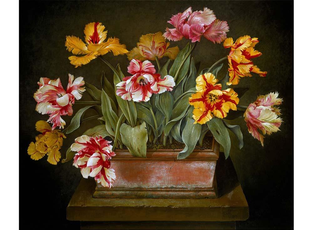 Набор вышивки бисером «Попугайные тюльпаны» Хосе ЭскофетаColor KIT<br><br><br>Артикул: 647<br>Основа: ткань<br>Сложность: легкие<br>Размер: 27x35 см<br>Техника вышивки: бисер<br>Количество цветов: 10-15<br>Заполнение: Частичное<br>Рисунок на канве: нанесена схема<br>Техника: Вышивка бисером