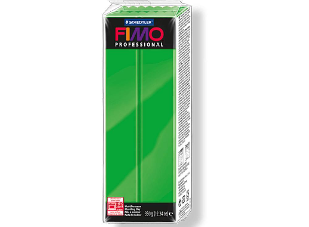 FIMO Professional 5 (ярко-зеленый) 350 гПолимерная глина FIMO<br>Полимерная глина FIMO Professional используется мастерами и художниками для изделий профессионального уровня - украшений, бижутерии, предметов декора с филигранным моделированием.<br> <br> Характеристика:<br><br>FIMO Professional - усовершенствованная формул...<br><br>Артикул: 8001-5<br>Вес: 350 г<br>Цвет: Ярко-зеленый<br>Серия: FIMO Professional