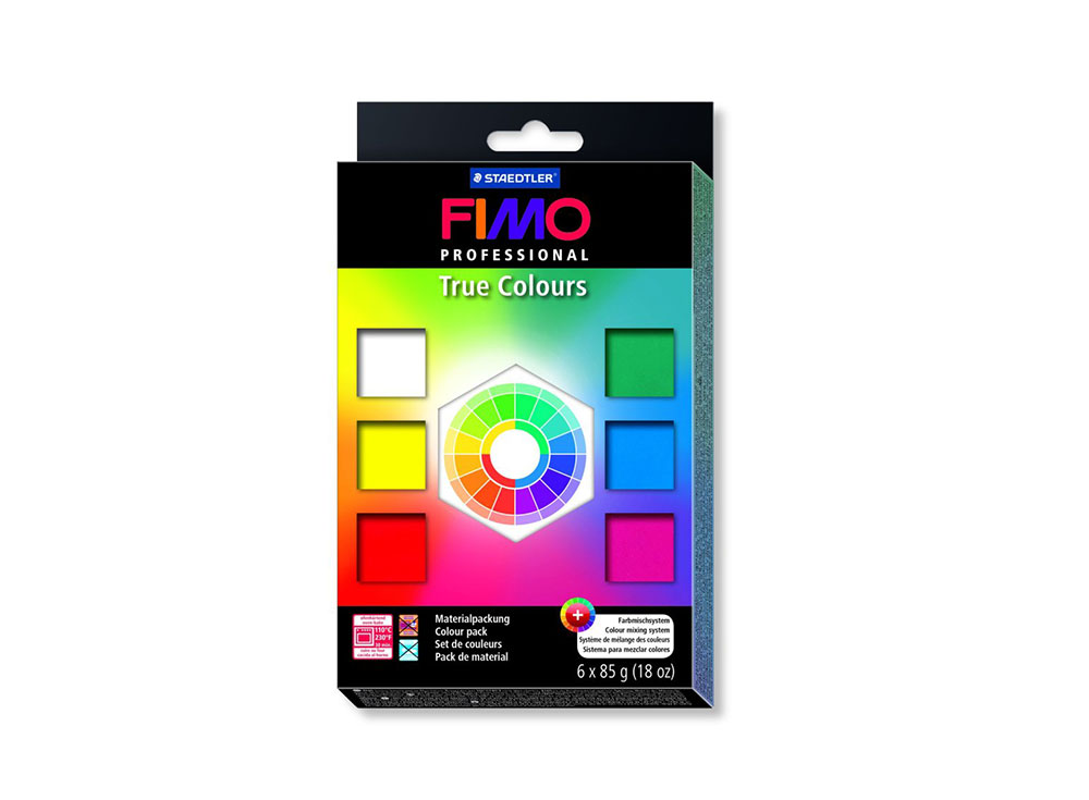Набор FIMO Professional «Натуральные цвета» (6 цветов х 85 г)Полимерная глина FIMO<br><br><br>Артикул: 8003_01<br>Вес: 85 г<br>Серия: Наборы FIMO