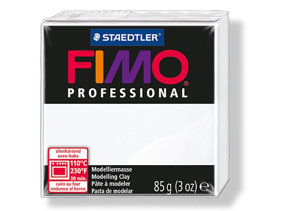 FIMO Professional 0 (белый)Полимерная глина FIMO<br>Полимерная глина FIMO Professional используется мастерами и художниками для изделий профессионального уровня - украшений, бижутерии, предметов декора с филигранным моделированием.<br> <br> Характеристика:<br><br>FIMO Professional - усовершенствованная формул...<br><br>Артикул: 8004-0<br>Вес: 85 г<br>Цвет: Белый<br>Серия: FIMO Professional