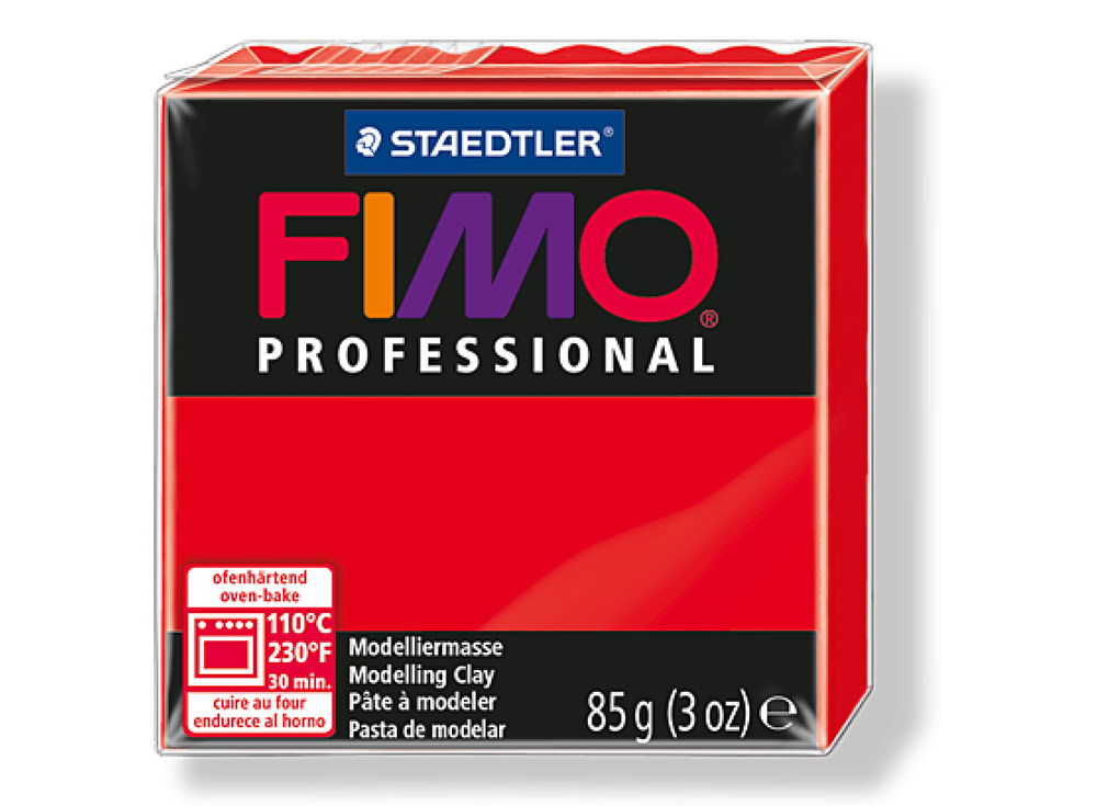 FIMO Professional 200 (чисто красный)Полимерная глина FIMO<br>Полимерная глина FIMO Professional используется мастерами и художниками для изделий профессионального уровня - украшений, бижутерии, предметов декора с филигранным моделированием.<br> <br> Характеристика:<br><br>FIMO Professional - усовершенствованная формул...<br><br>Артикул: 8004-200<br>Вес: 85 г<br>Цвет: Чисто красный<br>Серия: FIMO Professional