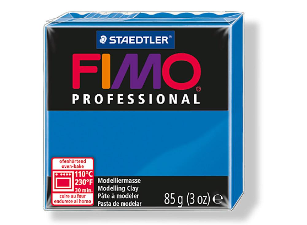 FIMO Professional 300 (чисто синий)Полимерная глина FIMO<br>Полимерная глина — удивительный материал для творчества и декоративно-прикладного искусства. Лепка из полимерной глины в равной степени увлекает детей и взрослых, вдохновляет мастеров и новичков. Этот вид творчества не требует профессиональной подготовки ...<br><br>Артикул: 8004-300<br>Вес: 85 г<br>Цвет: Чисто синий<br>Серия: FIMO Professional