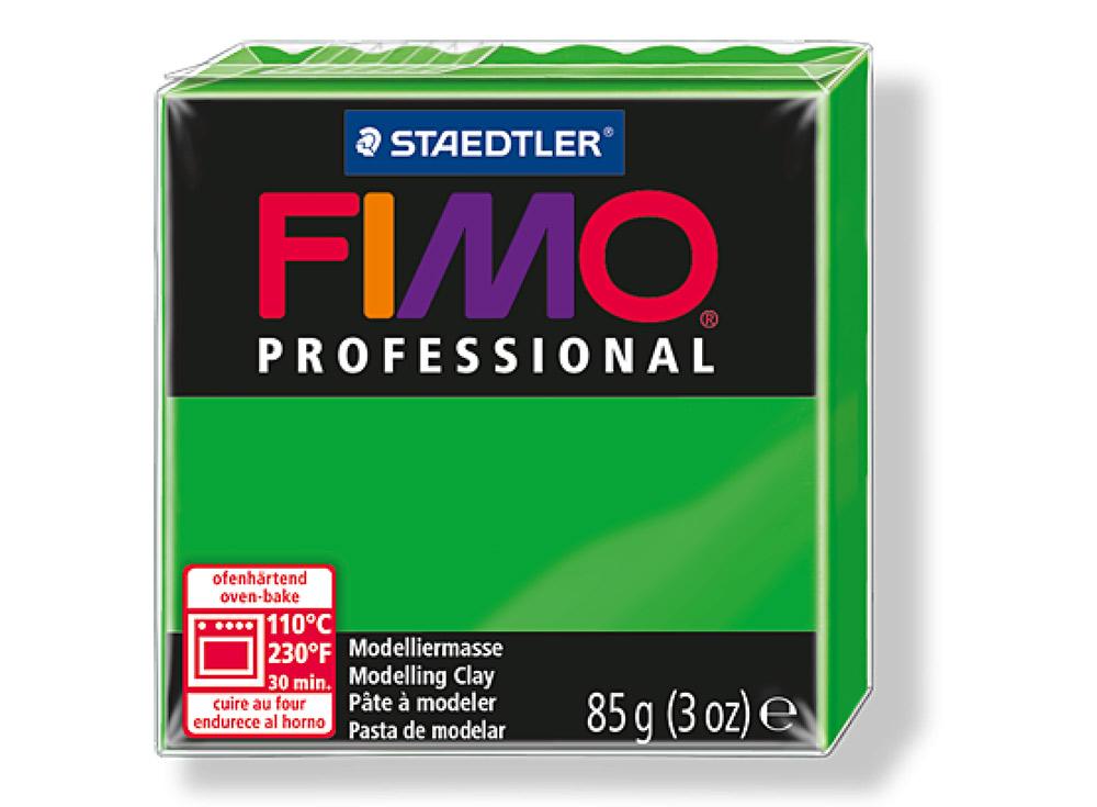 FIMO Professional 5 (ярко-зеленый)Полимерная глина FIMO<br>Полимерная глина — удивительный материал для творчества и декоративно-прикладного искусства. Лепка из полимерной глины в равной степени увлекает детей и взрослых, вдохновляет мастеров и новичков. Этот вид творчества не требует профессиональной подготовки ...<br><br>Артикул: 8004-5<br>Вес: 85 г<br>Цвет: Ярко-зеленый<br>Серия: FIMO Professional