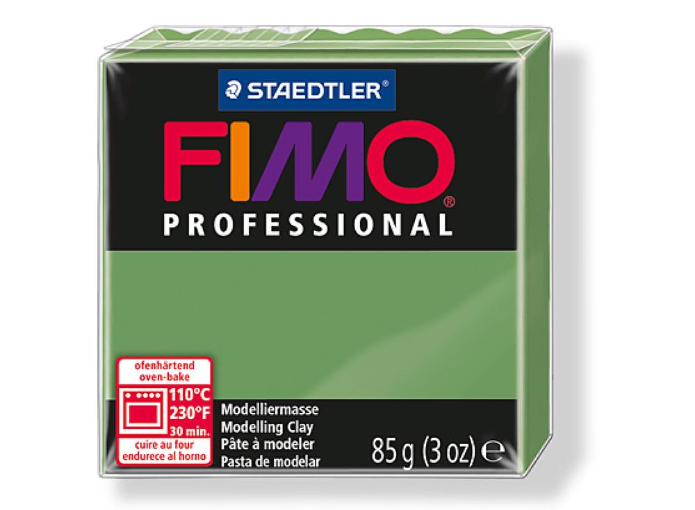 FIMO Professional 57 (зеленый лист)Полимерная глина FIMO<br>Полимерная глина FIMO Professional используется мастерами и художниками для изделий профессионального уровня - украшений, бижутерии, предметов декора с филигранным моделированием.<br> <br> Характеристика:<br><br>FIMO Professional - усовершенствованная формул...<br><br>Артикул: 8004-57<br>Вес: 85 г<br>Цвет: Зеленый лист<br>Серия: FIMO Professional