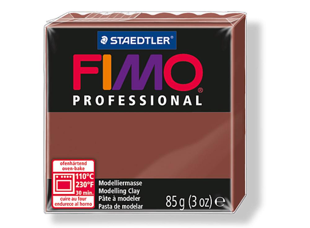 FIMO Professional 77 (шоколад)Полимерная глина FIMO<br>Полимерная глина — удивительный материал для творчества и декоративно-прикладного искусства. Лепка из полимерной глины в равной степени увлекает детей и взрослых, вдохновляет мастеров и новичков. Этот вид творчества не требует профессиональной подготовки ...<br><br>Артикул: 8004-77<br>Вес: 85 г<br>Цвет: Шоколад<br>Серия: FIMO Professional