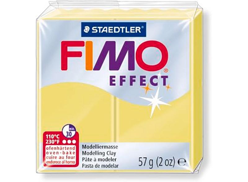 FIMO Effect 106 (цитрин)Полимерная глина FIMO<br>Полимерная глина — удивительный материал для творчества и декоративно-прикладного искусства. Лепка из полимерной глины в равной степени увлекает детей и взрослых, вдохновляет мастеров и новичков. Этот вид творчества не требует профессиональной подготовки ...<br><br>Артикул: 8020-106<br>Вес: 57 г<br>Цвет: Цитрин<br>Серия: FIMO Effect